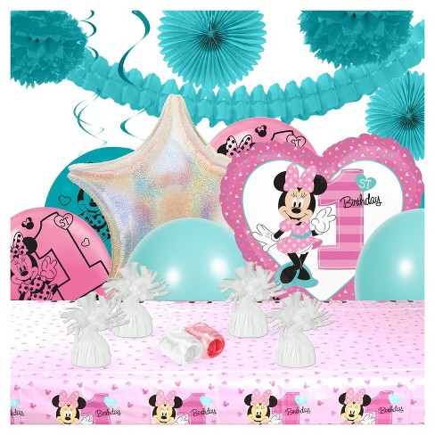 Disney Minnie Mouse 1st Birthday Party Decoration Kit Target