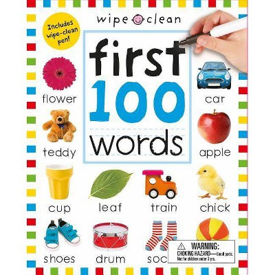 First 100 Words Wipe Clean 10/15/2017 - by Roger Priddy (Spiral Bound)
