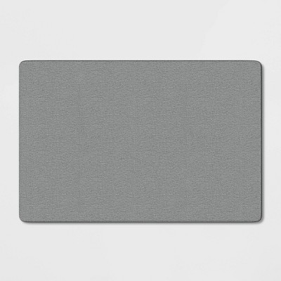 2'X3' Solid Utility Accent Rug Gray - Made By Design™