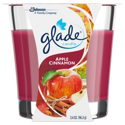 Glade Jar Candle Air Freshener, Apple Cinnamon, 3.4oz