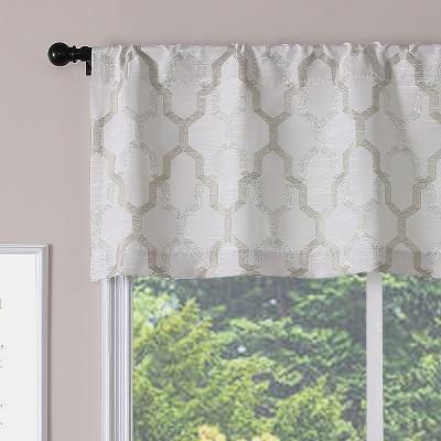 Kate Aurora Living Shabby Trellis Clover Rod Pocket Window Curtain Valances