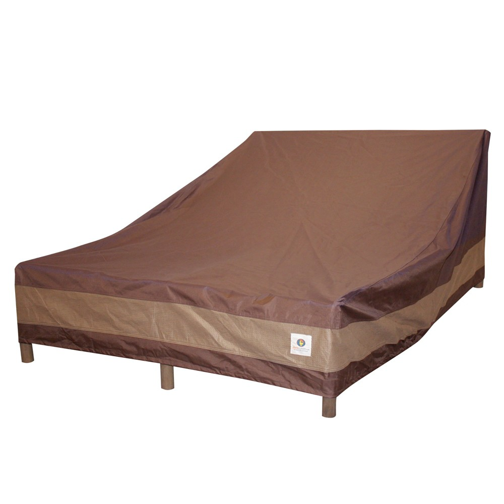 """Image of """"82""""""""L Ultimate Double Wide Chaise Lounge Cover Mochaccino - Classic Accessories"""""""