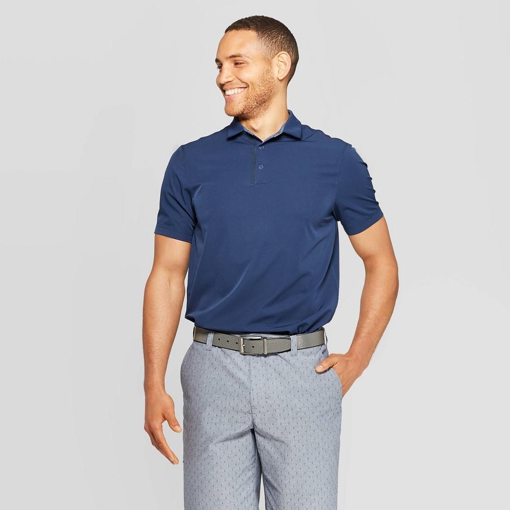 Image of Men's Stretchwoven Golf Polo Shirt - C9 Champion Midnight Vista Blue M, Size: Medium, Black Vista Blue