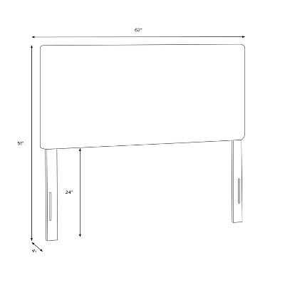Queen Upholstered Headboard Ikat - Project 62