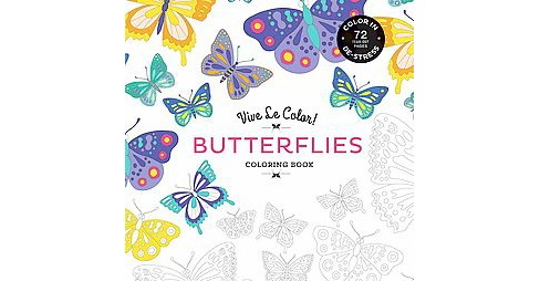 Butterflies (Vive Le Color) (Paperback) by Marabout - image 1 of 1