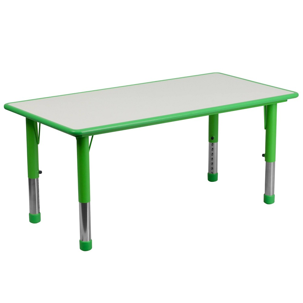 Image of Flash Furniture Rectangular Activity Table Green/Gray - Belnick