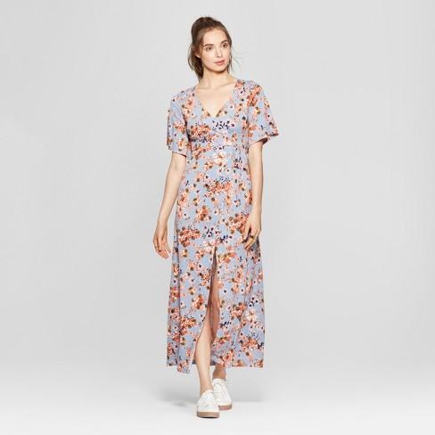 87022a892f9 Women s Floral Print Wrap Maxi Dress - Love   First Sight (Juniors ) Light  Blue