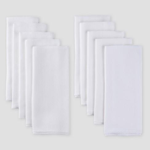 Gerber Baby Organic Cotton 10pk Flatfold Birdseye Diaper - White One Size - image 1 of 3