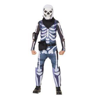 Kids' Fortnite Skull Trooper Halloween Costume M