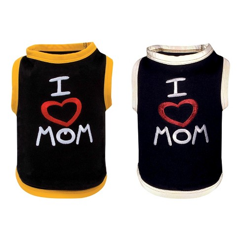 "Ultra Paws ""I Love Mom"" Doggie Tee Dog Costume - Black - image 1 of 5"