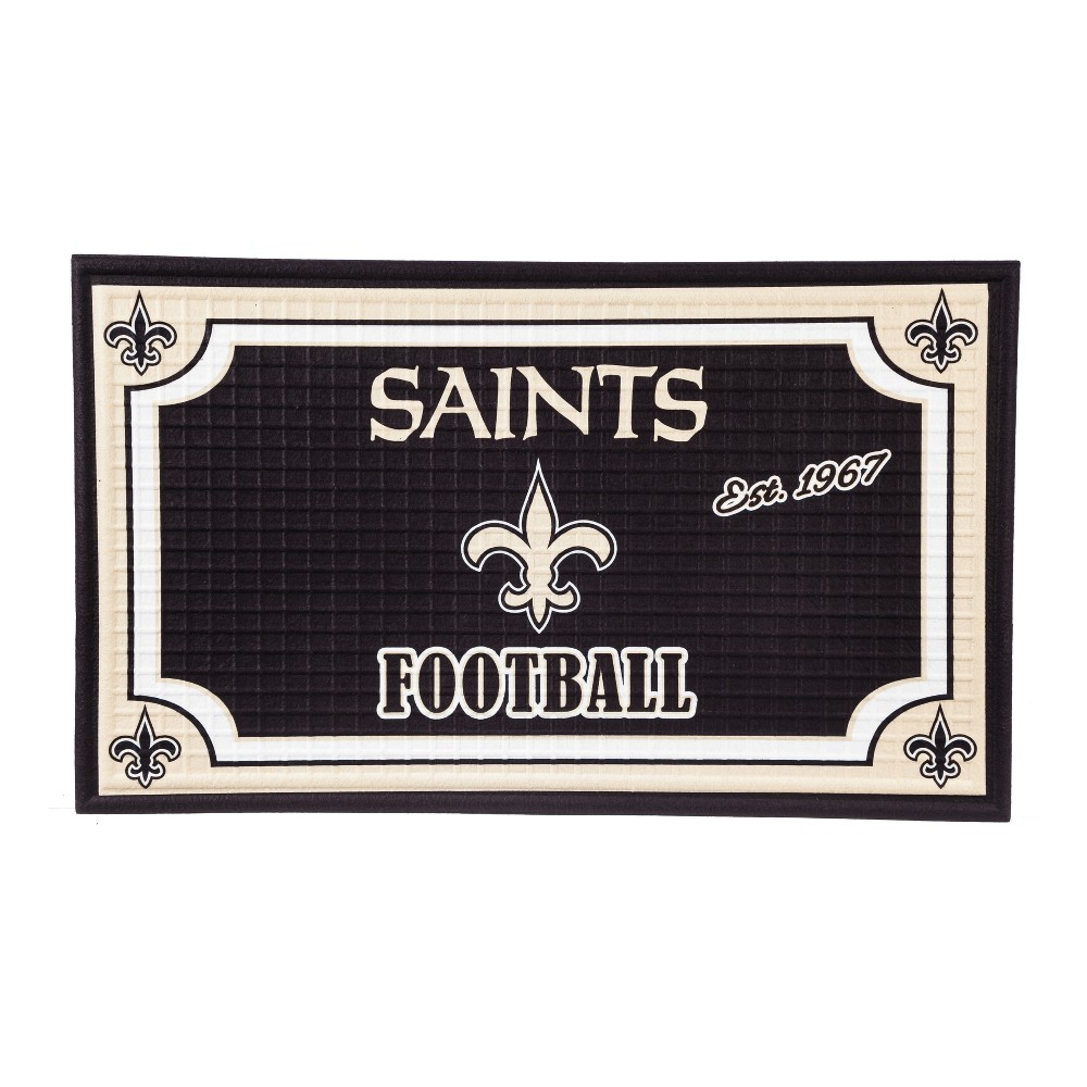 New Orleans Saints Embossed Welcome Mat - 18