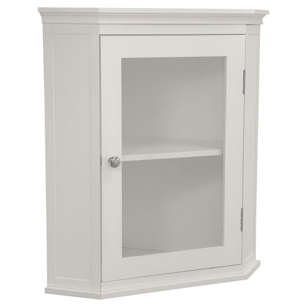 Elegant Home Fashions Madison Avenue Corner Wall Cabinet - White