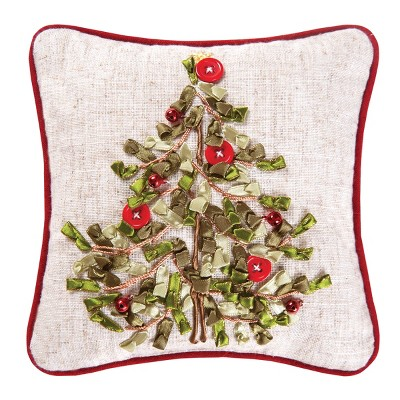 C&F Home Tree Hand Crafted Ribbon Art Petite Pillow