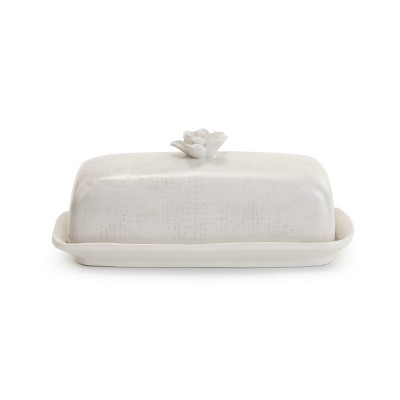 DEMDACO Succulent Butter Dish White