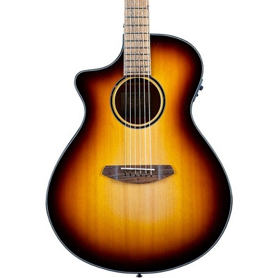 Breedlove Discovery S CE LH Red cedar-African Mahogany Concert Left Handed Acoustic-Electric Guitar Edge Burst
