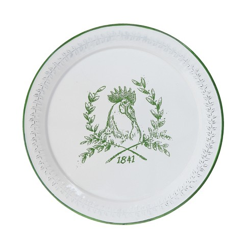 Round Enameled Tray with Rooster - 3R Studios - image 1 of 2
