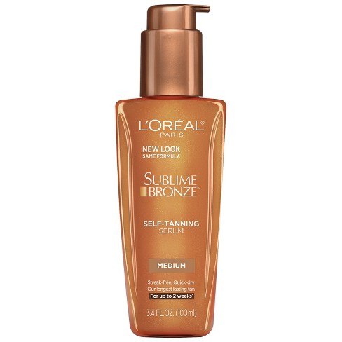 L'Oreal Paris Sublime Bronze Self-Tanning Serum Medium Natural Tan - 3.4 fl oz - image 1 of 3