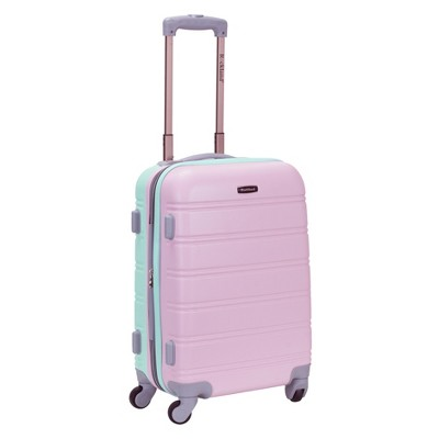 """Rockland Melbourne 20"""" Expandable Carry On Spinner Suitcase - Mint"""