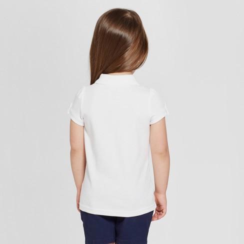 c51e0bd60 Toddler Girls' Short Sleeve Interlock Uniform Polo Shirt - Cat & Jack™