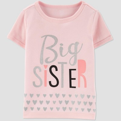 Toddler Girls' Short Sleeve Family Love 'Big Sister' T-Shirt - Just One You® made by carter's Pink 4T