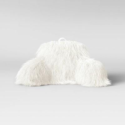 Faux Fur Bed Rest Pillow Cream - Opalhouse™