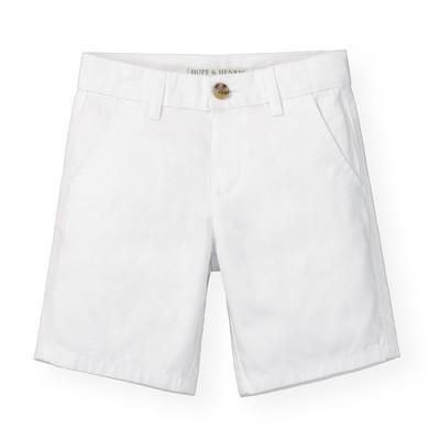 Hope & Henry Boys' White Twill Chino Shorts, Infant