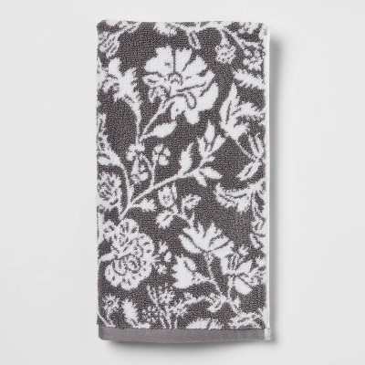 Performance Floral Hand Towel Dark Gray Floral - Threshold™
