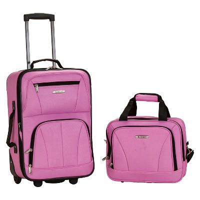 Rockland Luggage 2 Piece Luggage Set - Pink