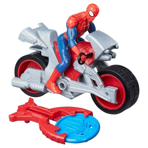Marvel Spider-Man Blast N' Go Racer Spider-Man with Cycle - image 1 of 3