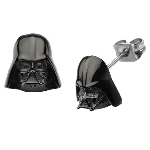 Men's Star Wars Darth Vader 3D Casted Ion Plated Stud Earrings - Black - image 1 of 1