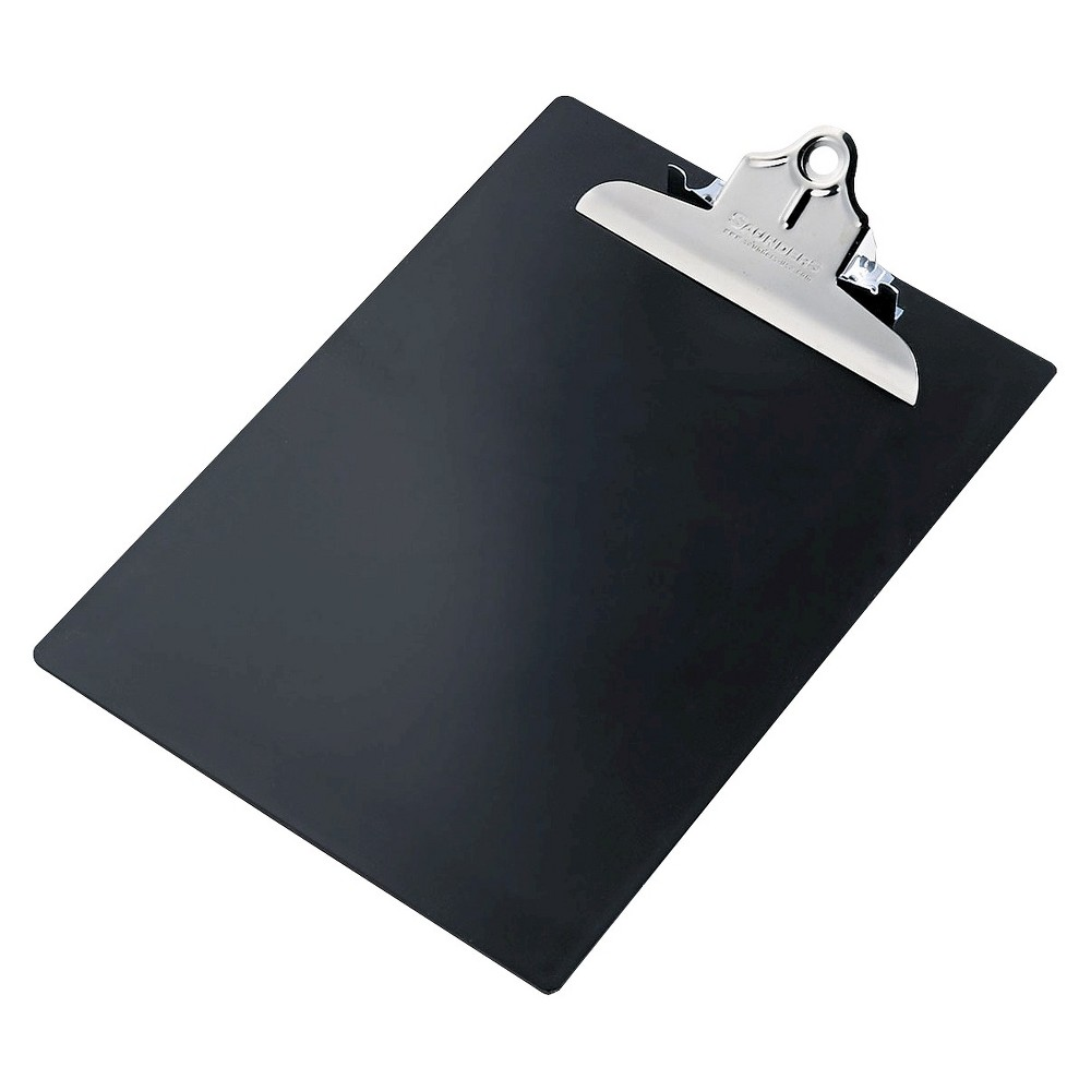 Saunders Plastic Clipboard - Black - 2 pk