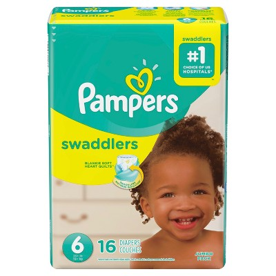 Pampers Swaddlers Diapers Jumbo Pack - Size 6 (16ct)