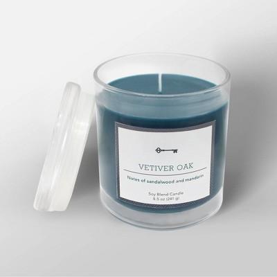 8.5oz Glass Jar Candle Vetiver Oak - Threshold™