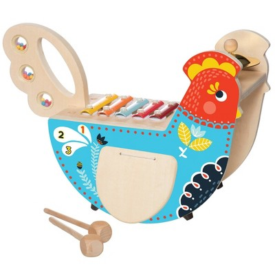 The Manhattan Toy Company Musical Chicken Wooden Instrument