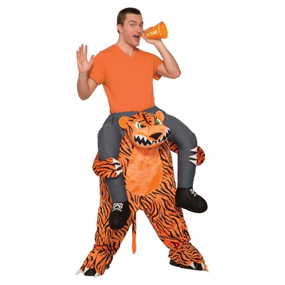 Image of Halloween Adult Ride a Tiger Costume, Adult Unisex, MultiColored