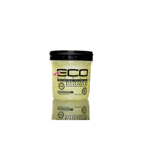 Eco Style Professional Styling Gel Black Castor & Flaxseed Oil - 16 fl oz - image 1 of 4