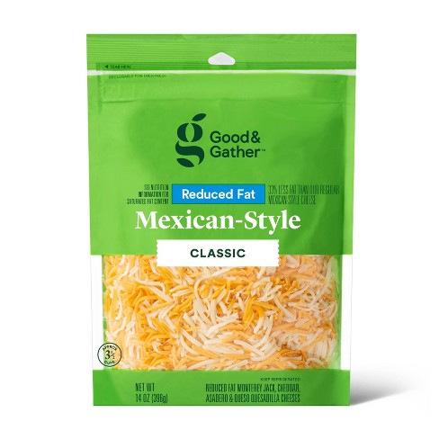 Shredded Reduced Fat Mexican-Style Cheese - 14oz - Good & Gather™ - image 1 of 2