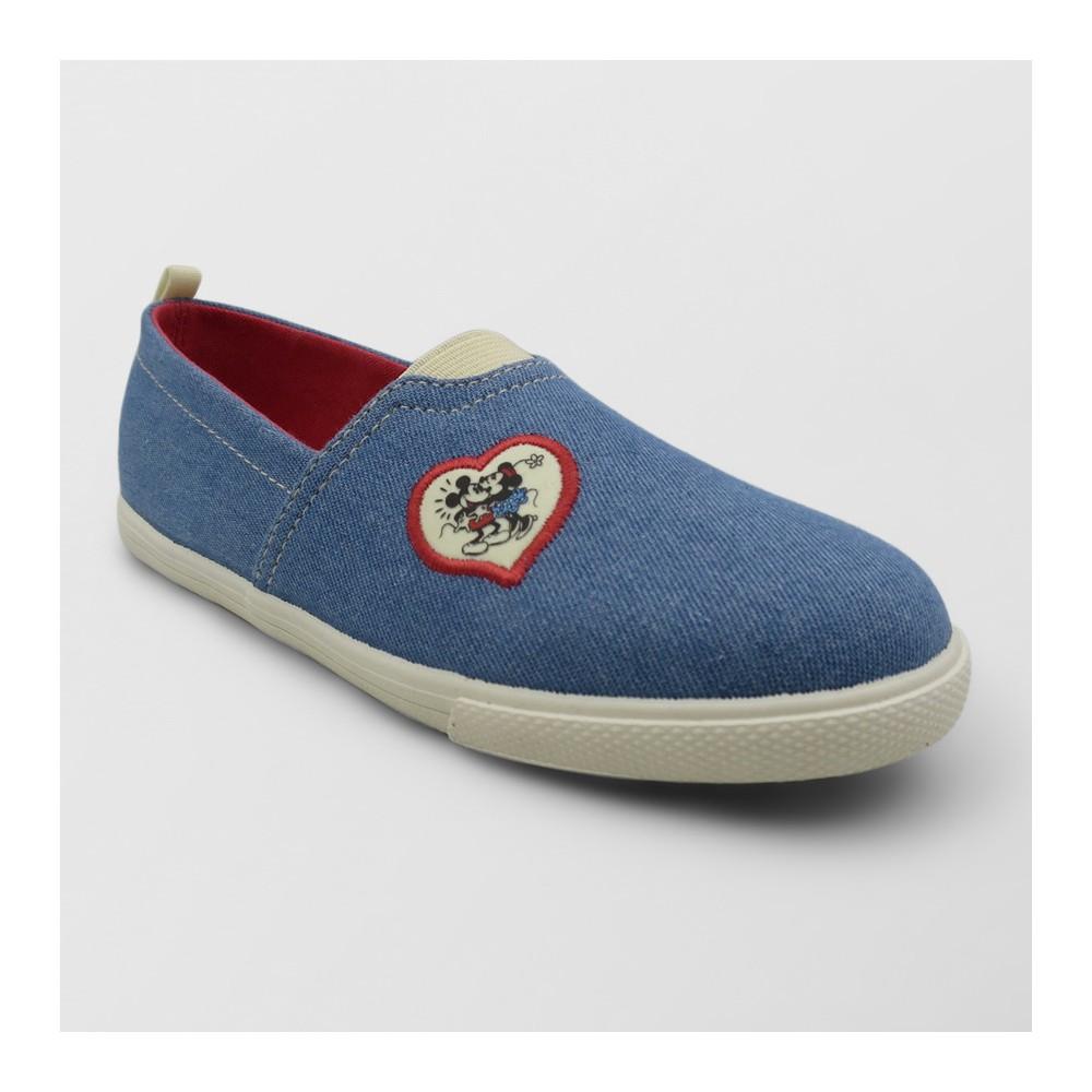 Girls' Disney Mickey Mouse Sneakers - Denim Blue 4