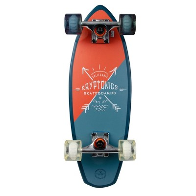 "Kryptonics 23"" Mini Fat Arrowheads Cruiser Skateboard - Orange"