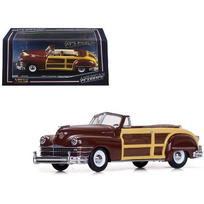 1947 Chrysler Town and Country Costa Rica Brown 1/43 Diecast Model Car by Vitesse