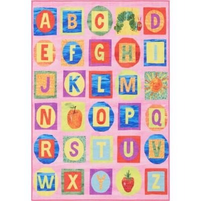 Eric Carle Alphabet Blocks Area Rug (6'6 x9'5 )Pink - Home Dynamix