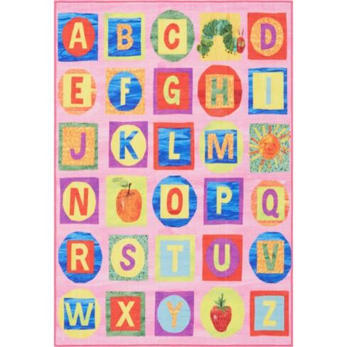 Eric Carle Alphabet Blocks Area Rug 2 9 Quot X4 3 Quot Pink