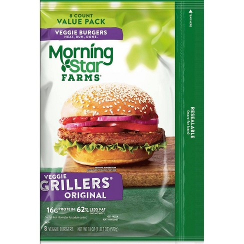 Morningstar Farms Grillers Original Veggie Burgers - Frozen - 18oz/8ct - image 1 of 3