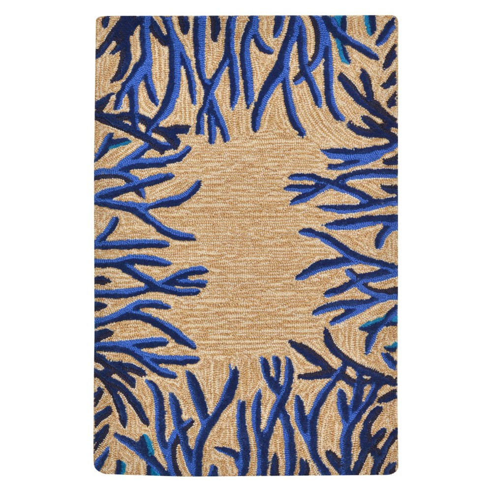 Blue Abstract Tufted Accent Rug - (2'x3') - Liora Manne