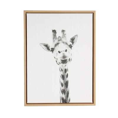 """24"""" x 18"""" Giraffe Framed Canvas Art - Uniek"""