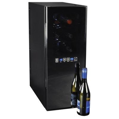 Koolatron 12-Bottle Dual-Zone Wine Cooler - Black