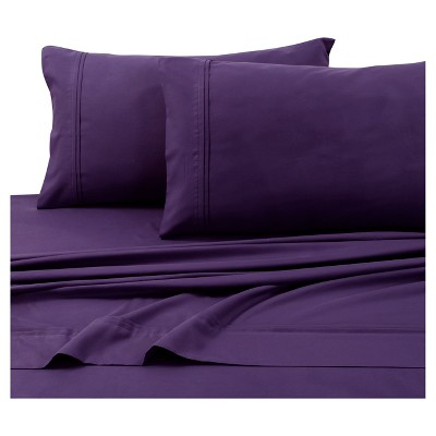 Microfiber Solid Deep Pocket Sheet Set (California King)Purple 110 GSM - Tribeca Living