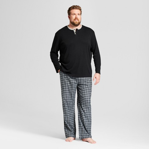 Men's Big & Tall Pajama Set - Goodfellow & Co™ Gray/Black Plaid 2XBT - image 1 of 2