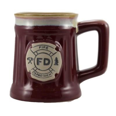 "Tabletop 4.5"" Fire Department Emblem Mug First Responder Burton & Burton  -  Drinkware"