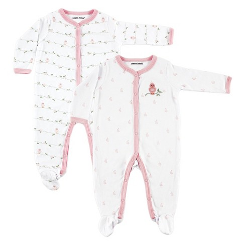 a4e32a9867 Luvable Friends Baby Girls  2 Pack Sleep N  Play - Bird 6-9M   Target